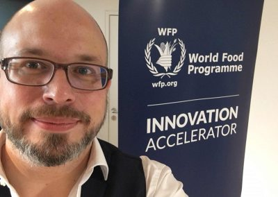 Erik Leonavicius als Innovationsexperte bei der Global Entrepreneurship Sommer School beim World Food Programme - Referenz - Innovation - REINVENTIS - Innovationsagentur - München
